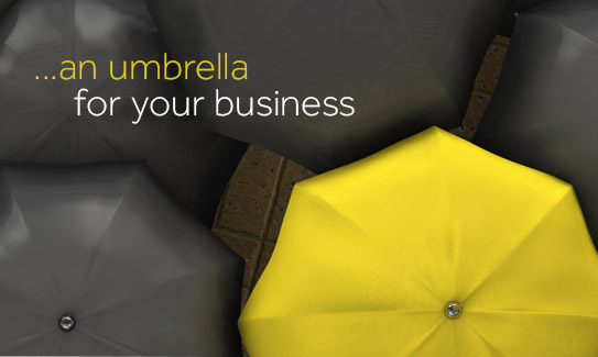 An umbrella for your business